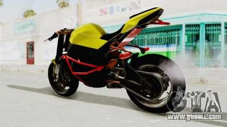Kawasaki Ninja ZX-10R Nakedbike Stunter for GTA San Andreas right view