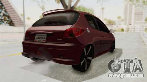 Peugeot 206 Full for GTA San Andreas back left view