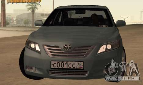 Toyota Camry 2007 for GTA San Andreas left view