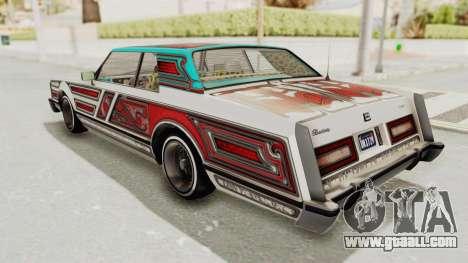 GTA 5 Dundreary Virgo Classic Custom v3 for GTA San Andreas bottom view