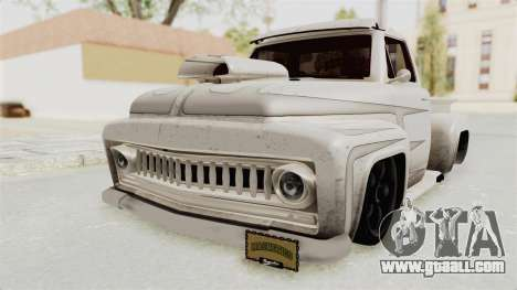 GTA 5 Slamvan Lowrider PJ1 for GTA San Andreas back view