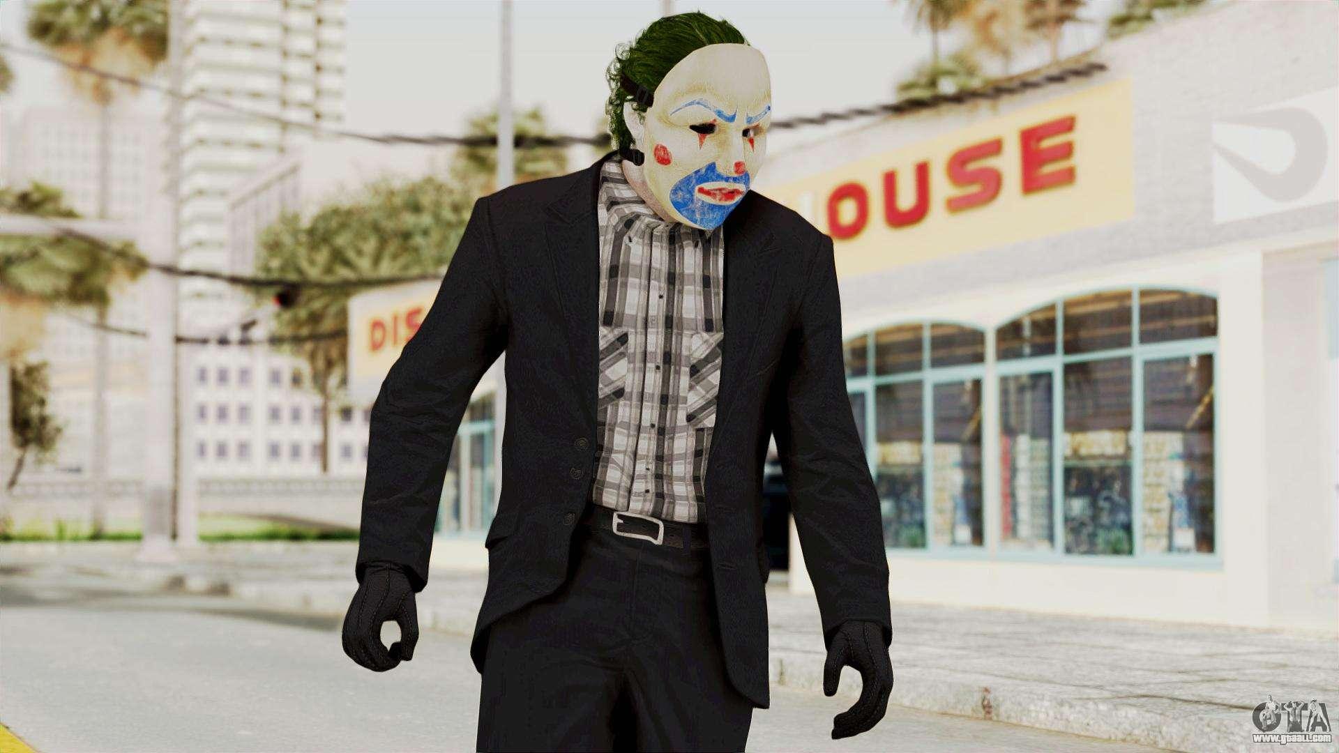 Joker Heist Outfit GTA 5 Style For GTA San Andreas