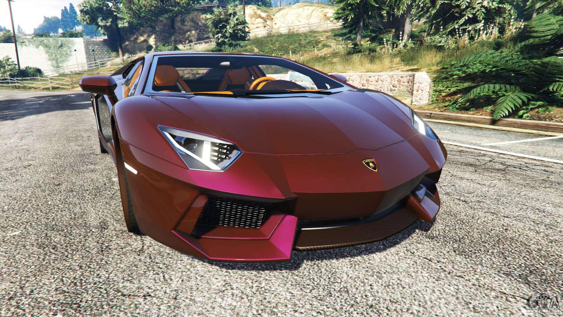 Lamborghini Aventador V1 1 For Gta 5