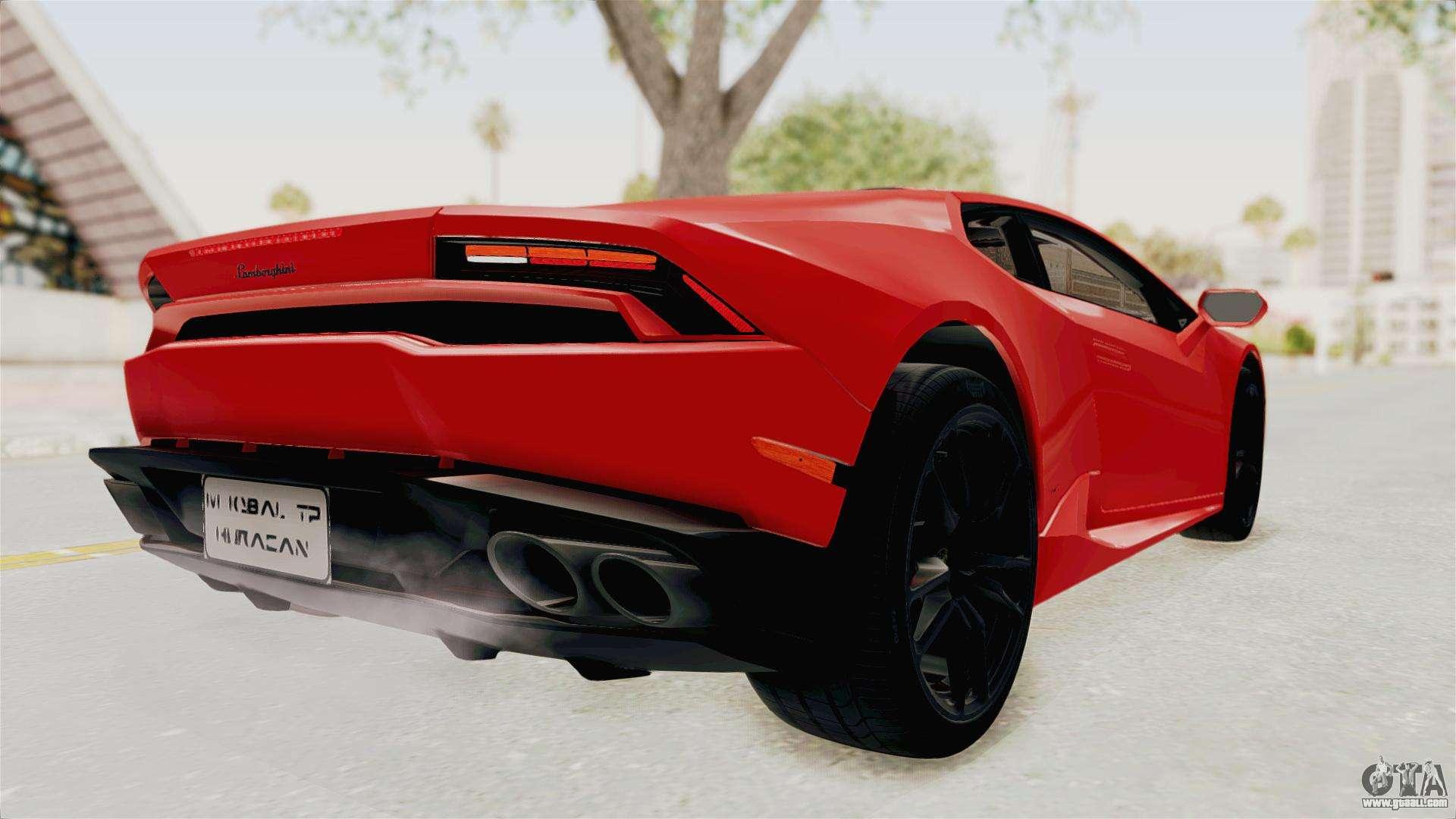 Lamborghini Huracan 2014 Stock For Gta San Andreas