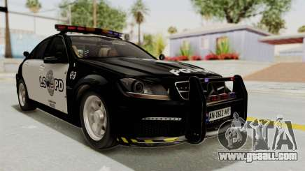 Mercedes-Benz C63 AMG 2010 Police v2 for GTA San Andreas