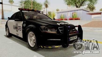 Mercedes-Benz C63 AMG 2010 Police v2 for GTA San Andreas