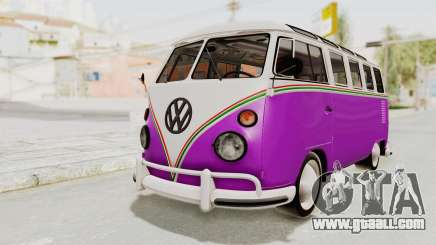 Volkswagen T1 Station Wagon De Luxe Type2 1963 for GTA San Andreas