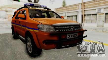 Toyota Fortuner JPJ Orange for GTA San Andreas