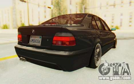 BMW M5 E39 M-Tech USDM for GTA San Andreas back left view