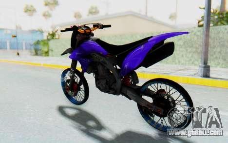 Kawasaki KLX150S Thailock Style for GTA San Andreas right view