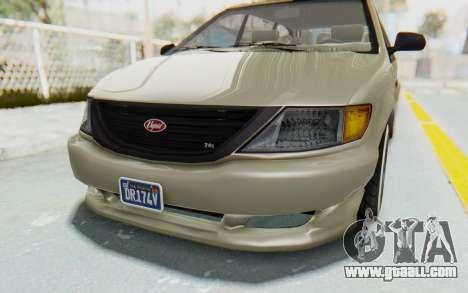GTA 5 Vapid Minivan Custom without Hydro IVF for GTA San Andreas upper view