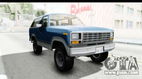 Ford Bronco 1980 Roof for GTA San Andreas