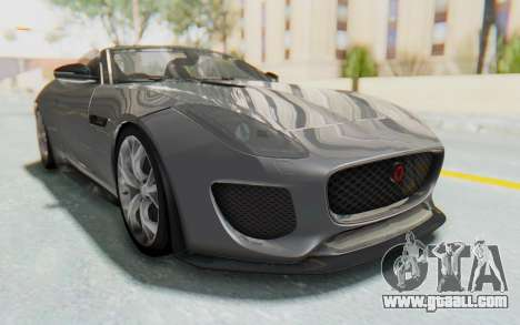 Jaguar F-Type Project 7 for GTA San Andreas back left view