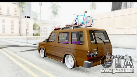 Toyota Kijang Grand Extra with Bike for GTA San Andreas back left view