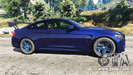 GTA 5 BMW M4 2015 v0.01 left side view