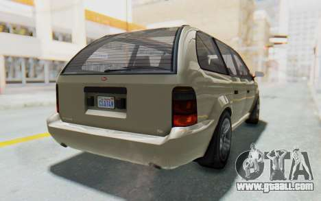 GTA 5 Vapid Minivan IVF for GTA San Andreas right view