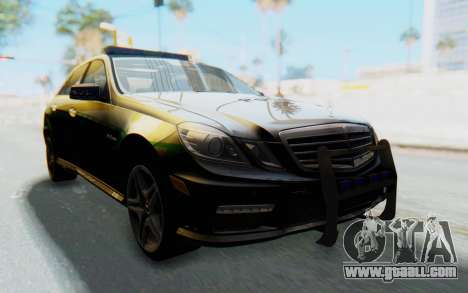 Mercedes-Benz E63 German Police Green for GTA San Andreas right view