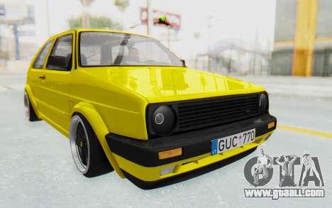 Volkswagen Golf Mk2 Lemon for GTA San Andreas right view