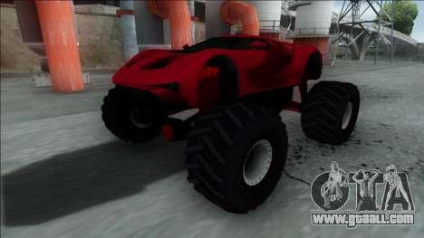 GTA V Vapid FMJ Monster Truck for GTA San Andreas back left view