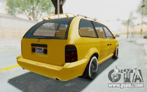 GTA 5 Vapid Minivan Custom IVF for GTA San Andreas back left view