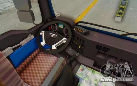 MAN TGA Energrom Edition v1 for GTA San Andreas inner view