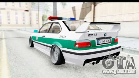 BMW M3 E36 Stance Lithuanian Police for GTA San Andreas back left view
