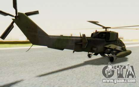 WZ-19 Attack Helicopter for GTA San Andreas left view