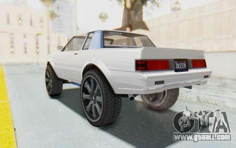 GTA 5 Willard Faction Custom Donk v2 for GTA San Andreas left view