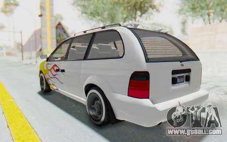 GTA 5 Vapid Minivan Custom without Hydro for GTA San Andreas wheels