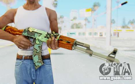 CS:GO - AK-47 Fire Serpent for GTA San Andreas third screenshot