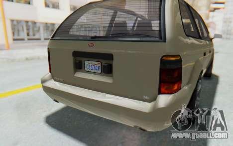 GTA 5 Vapid Minivan IVF for GTA San Andreas bottom view