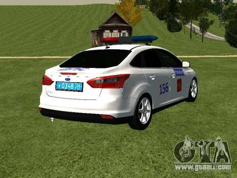 Ford Focus ДПС for GTA San Andreas back left view