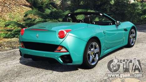 GTA 5 Ferrari California Autovista [add-on] rear left side view