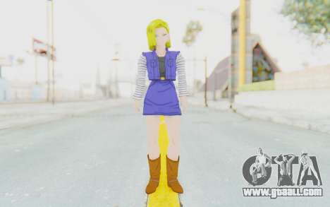 Dragon Ball Xenoverse Android 18 Showing Legs for GTA San Andreas second screenshot