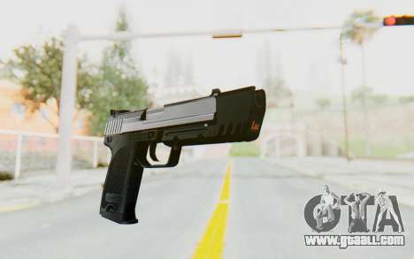 HK USP 45 Chrome for GTA San Andreas