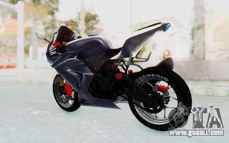 Kawasaki Ninja 250R Streetrace v2 for GTA San Andreas back left view
