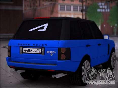 Range Rover Sport Pintoresca for GTA San Andreas left view