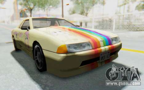 Elegy MLP Fluttershy PJ for GTA San Andreas right view