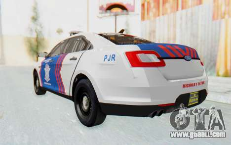 Ford Taurus Indonesian Traffic Police for GTA San Andreas right view