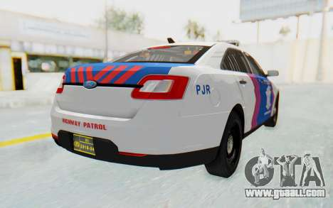 Ford Taurus Indonesian Traffic Police for GTA San Andreas left view