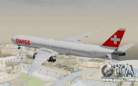 Boeing 777-300ER Swiss Global Air Lines for GTA San Andreas right view