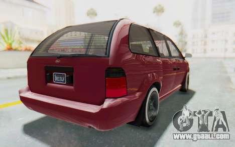 GTA 5 Vapid Minivan Custom without Hydro for GTA San Andreas left view