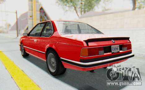BMW M635 CSi (E24) 1984 IVF PJ2 for GTA San Andreas left view