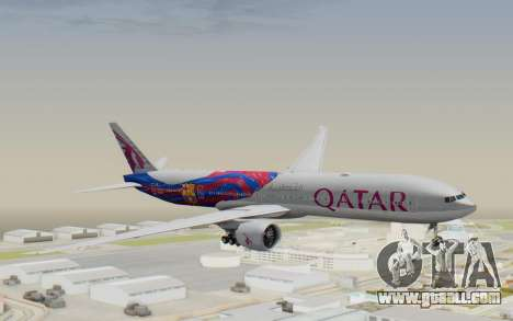 Boeing 777-300ER Qatar Airways v2 for GTA San Andreas