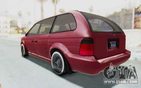 GTA 5 Vapid Minivan Custom without Hydro for GTA San Andreas back left view