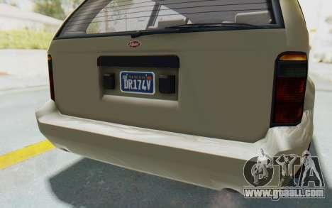 GTA 5 Vapid Minivan Custom without Hydro IVF for GTA San Andreas interior