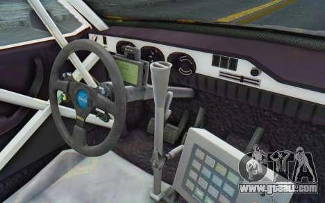 Dacia 1300 Rally for GTA San Andreas inner view