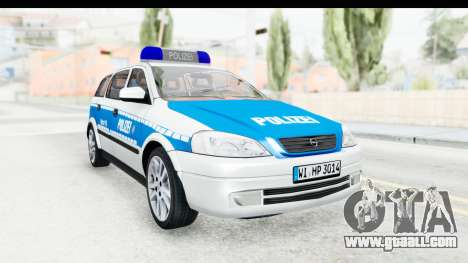 Opel Astra G Variant Polizei Hessen for GTA San Andreas right view