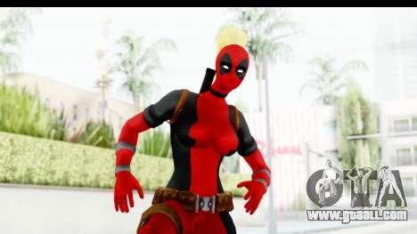 Marvel Heroes - Lady Deadpool for GTA San Andreas