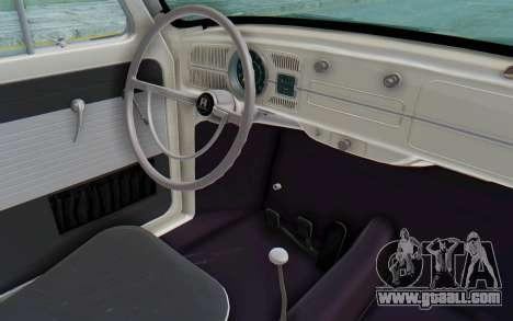 Volkswagen Beetle 1200 Type 1 1963 Herbie for GTA San Andreas inner view